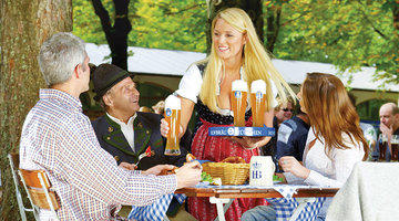 Today Bavarian Biergartens are lively retreats bursting with the spirit of revelry